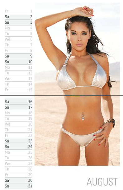 [SEXY] Nabilla : le calendrier 2014
