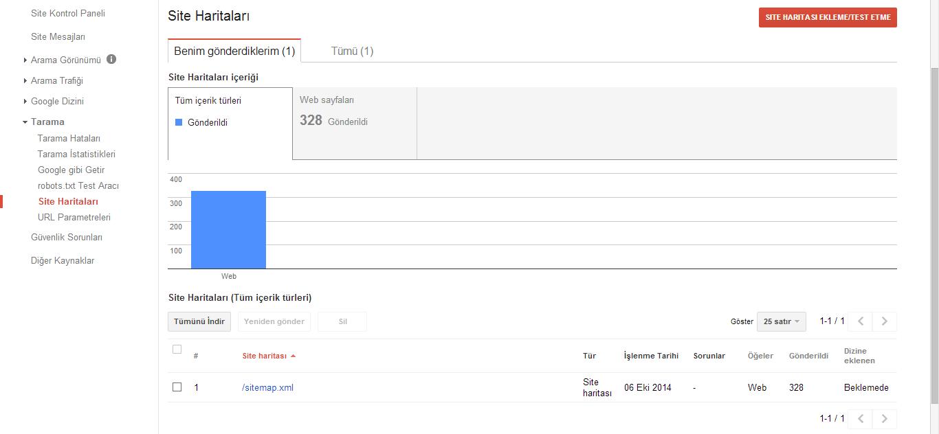 Google Webmaster Araçları Sitemap (Site Haritası) Gönderme