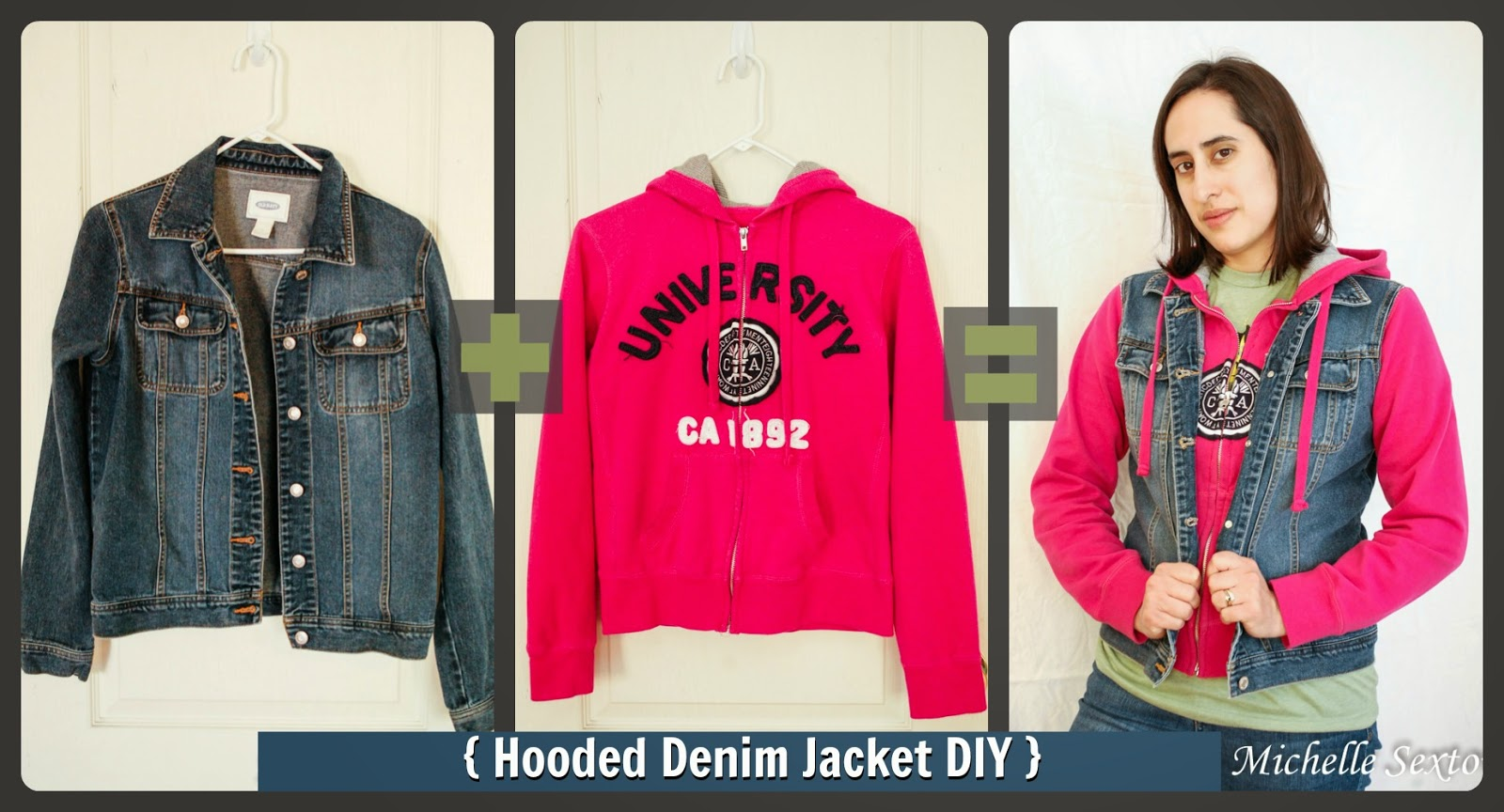 Hooded Denim Jacket DIY - this tutorial provides an easy way to make a hooded denim jacket with a minimal amount of sewing @ SoHeresMyLife.com - click through and learn how