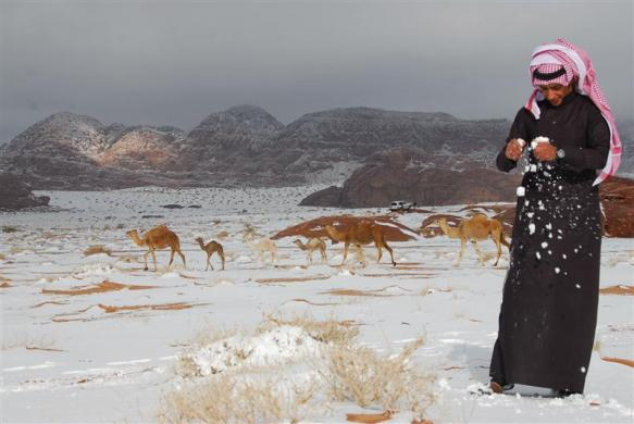 Salju Di Jerusalem Dan Arab Saudi Keajaiban Dunia