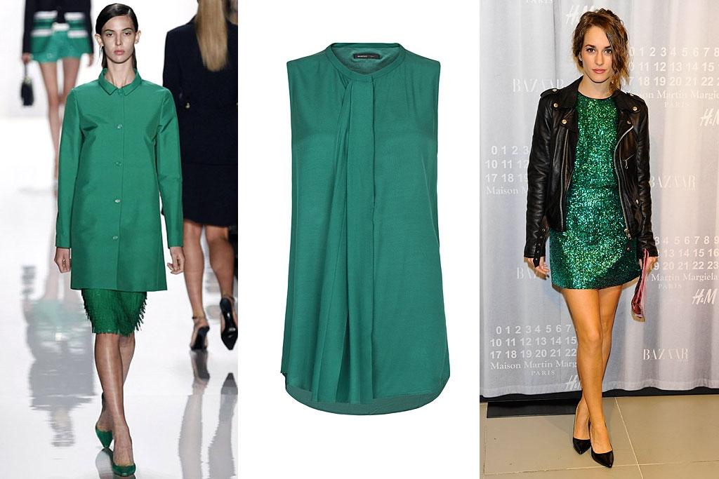 Combinar vestido verde esmeralda