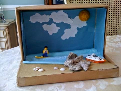 recycle diorama