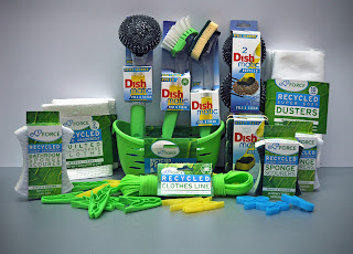 cleaning, environmentally friendly, recycled materials