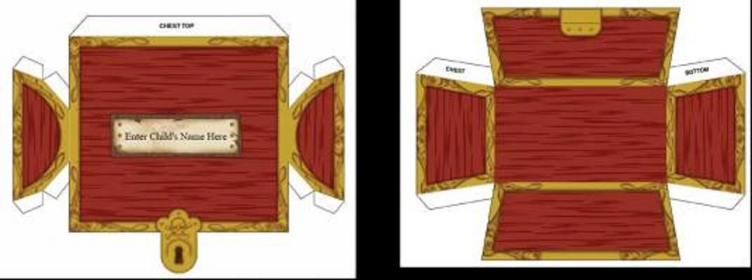 Cofre de piratas moldes - Imagui