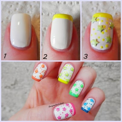 easy nail art and makeup ideas easy neon stepstep