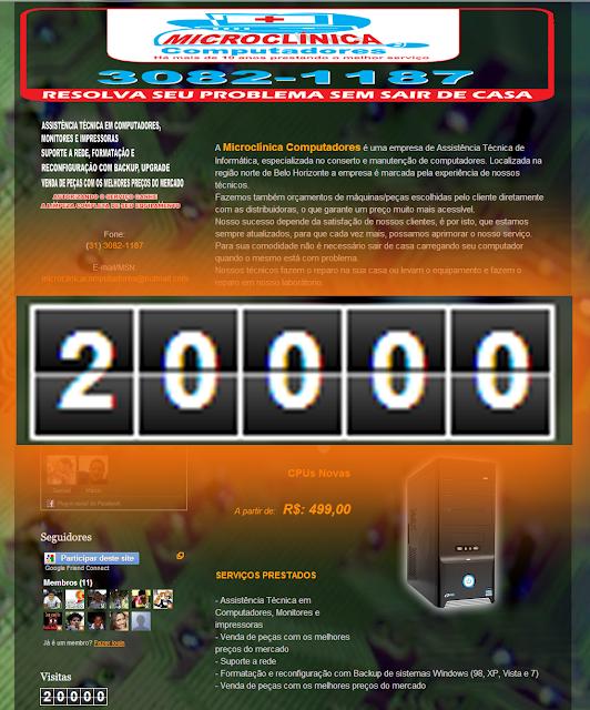 Site alcança a marca de MAIS DE 20000 VISITAS!!!!
