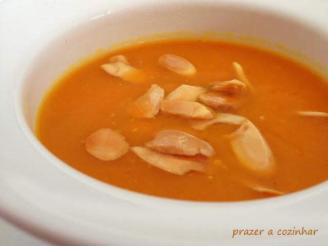prazer a cozinhar - sopa de abóbora e courgette