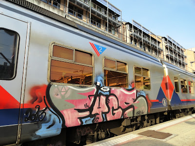 graffiti on train