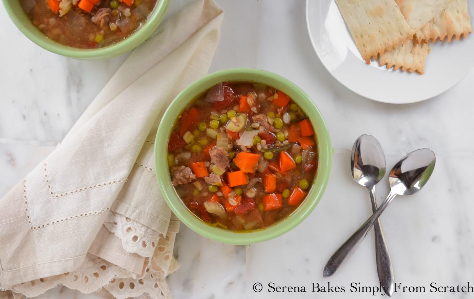 Crock Pot Beef Vegetable Barley Soup