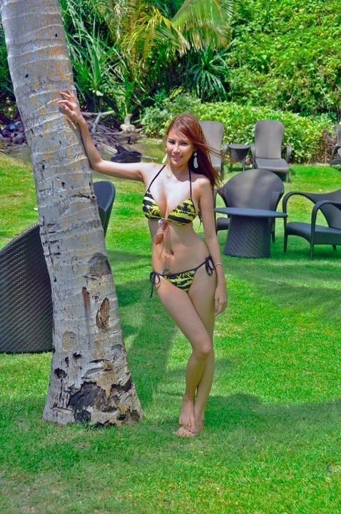 aiko baniqued hot yellow bikini pics 04