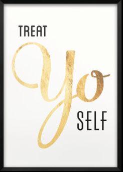 Treat Yo Self Print by Paper Chat