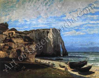 "The Great Artist Gustave Courbet Painting ""Cliffs at Etretat after the Storm"" 1869 52 ¼"" x 63 ¾"" Musee d'Orsay, Paris"