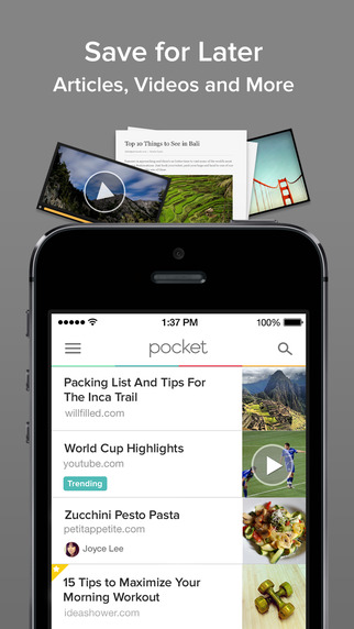 Pocket iOS App Review