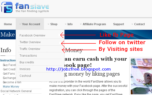 Earn money with Fansalave in Pakistan