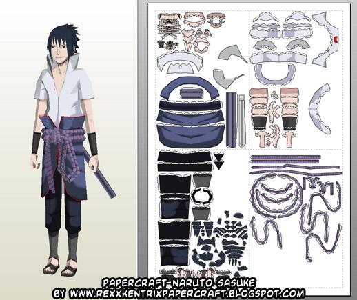 Papercraft Naruto Mangekyou Sharingan Sasuke!