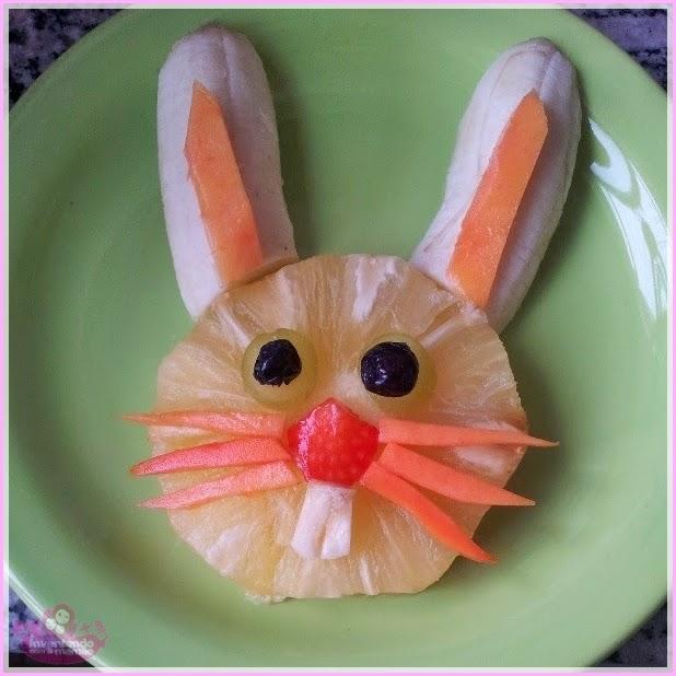 Comida divertida de coelho
