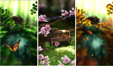 spring zen free live wallpaper for android