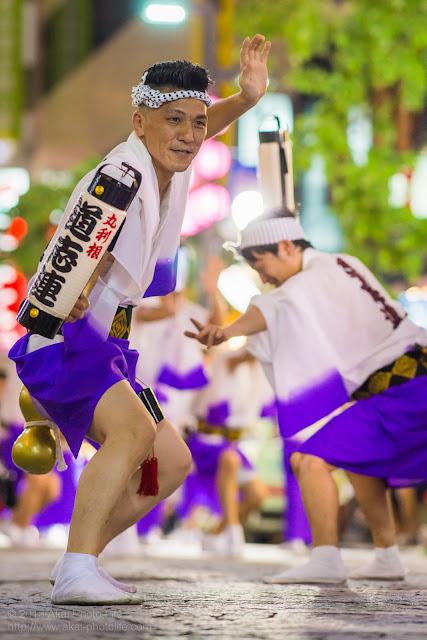 三鷹阿波踊り 道志連の男踊り ちょうちん