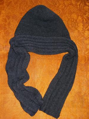 fular gri tricotat cadou