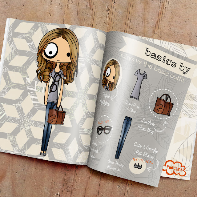 ilustración original | original illustration foltys vs the basic outfit (tazas, carcasas y libretas ilustradas) (illustrated mugs, phone cases and notebooks)