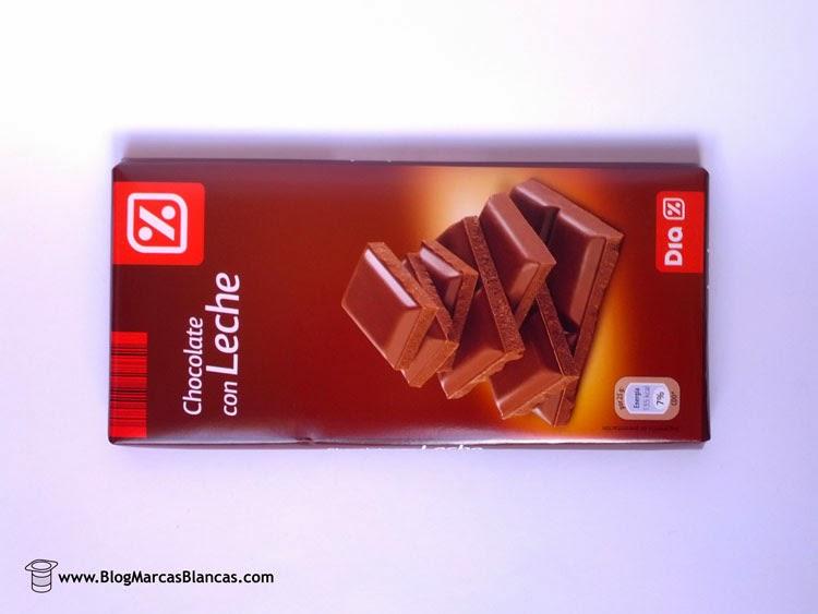 Chocolate con leche DIA fabricado por Ibercacao.