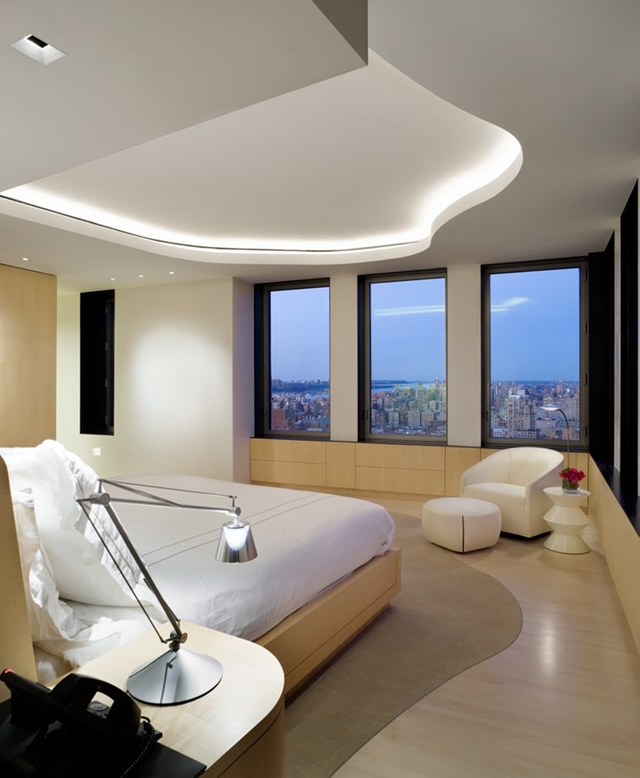Photo of bedroom with New York City views