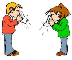 Gambar Orang sedang Flu atau Pilek