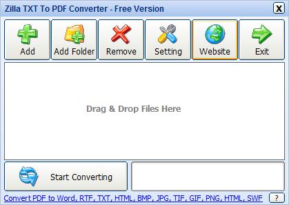 文字檔轉PDF檔案軟體推薦:Zilla TXT To PDF Converter 免安裝下載