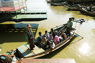 Harbor ferry in Yangon