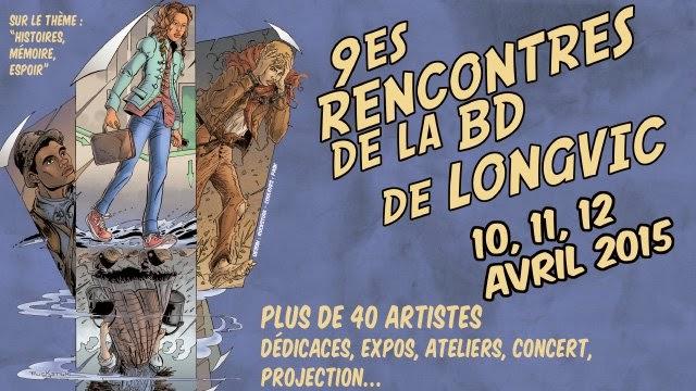 Plus d'infos sur le festival BD de Longvic - 10, 11, 12 avril 2015
