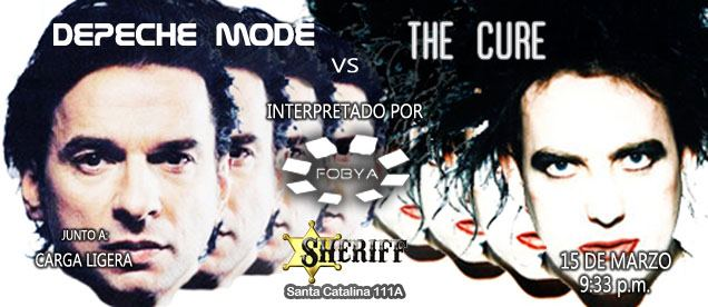 Depeche Mode vs The Cure (15 marzo)