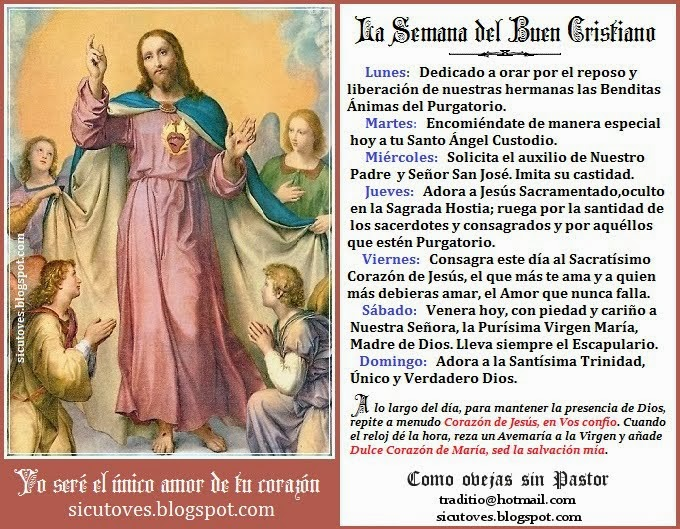 LA SEMANA DEL BUEN CRISTIANO