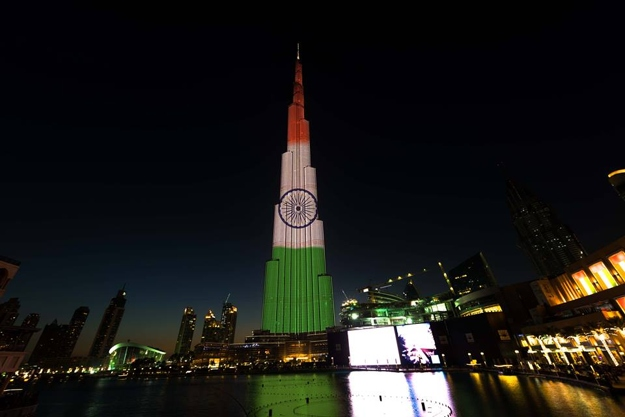 Burj Khalifa lit up: Republic Day