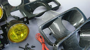 Honda civic EK/EJ fog lamp new version with netting BLACK color casing model .