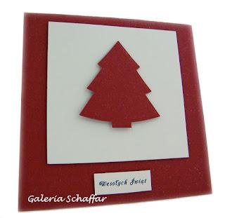 pomysł na prostą kartkę świąteczną karton mika