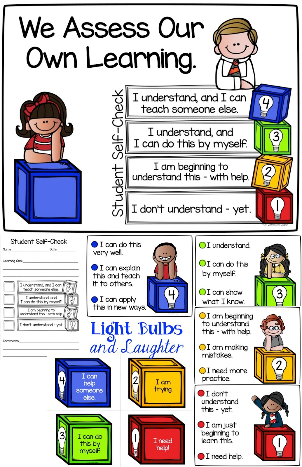 Student Self Assessment Posters - Light Bulbs and Laughter Blog