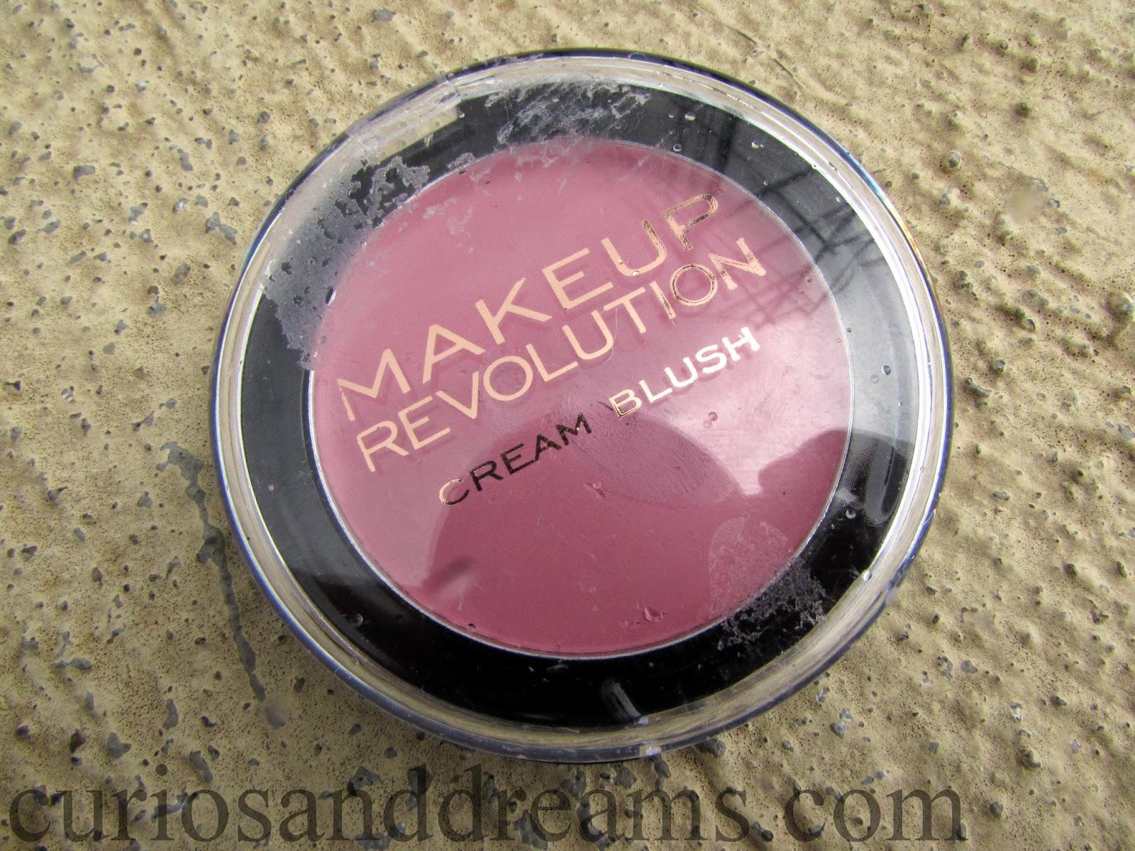 Makeup Revolution Cream Blusher review, Makeup Revolution Framboise Shake review