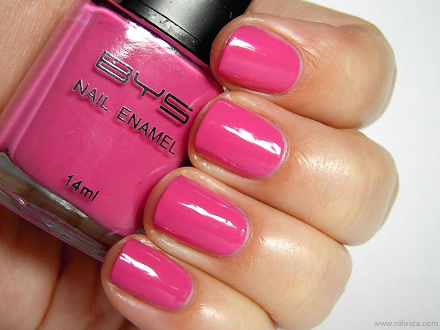 BYS Nail Polish in Pink With a Punch