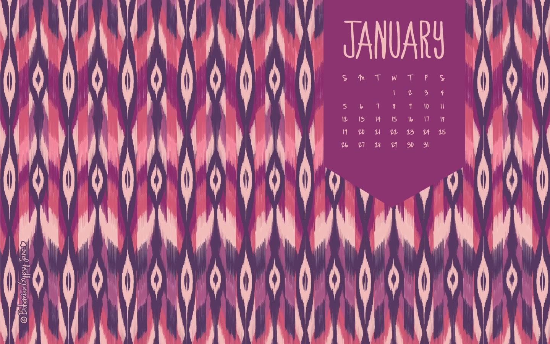 January 2014 Desktop Calendar