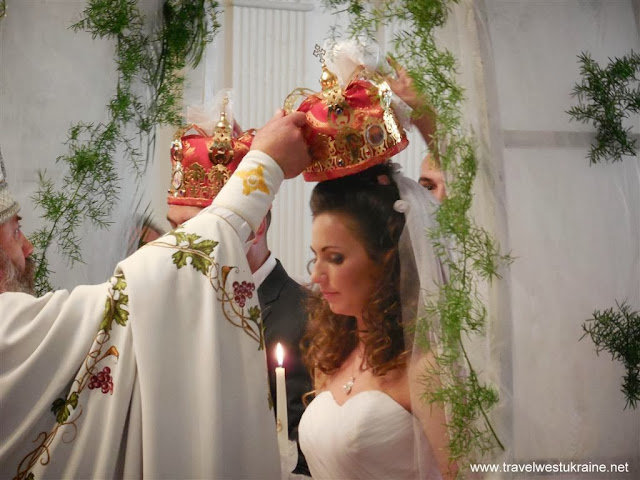 Marriage Ceremony in Ukrainian Orthodox Church, Ternopil, West Ukraine
