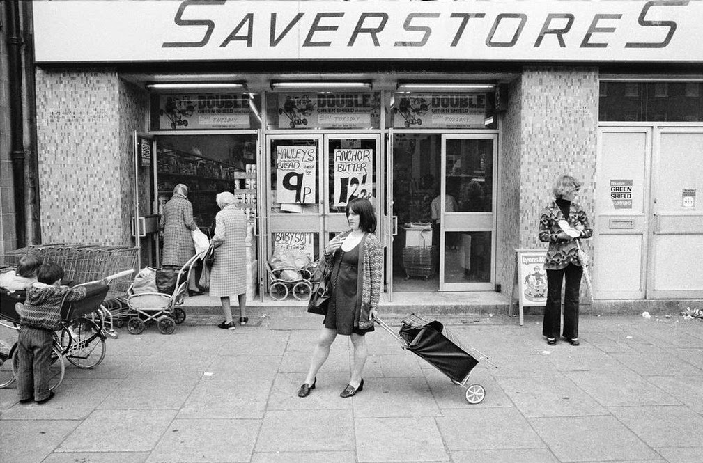 Vintage everyday street scenes of england in the 1960s 70s