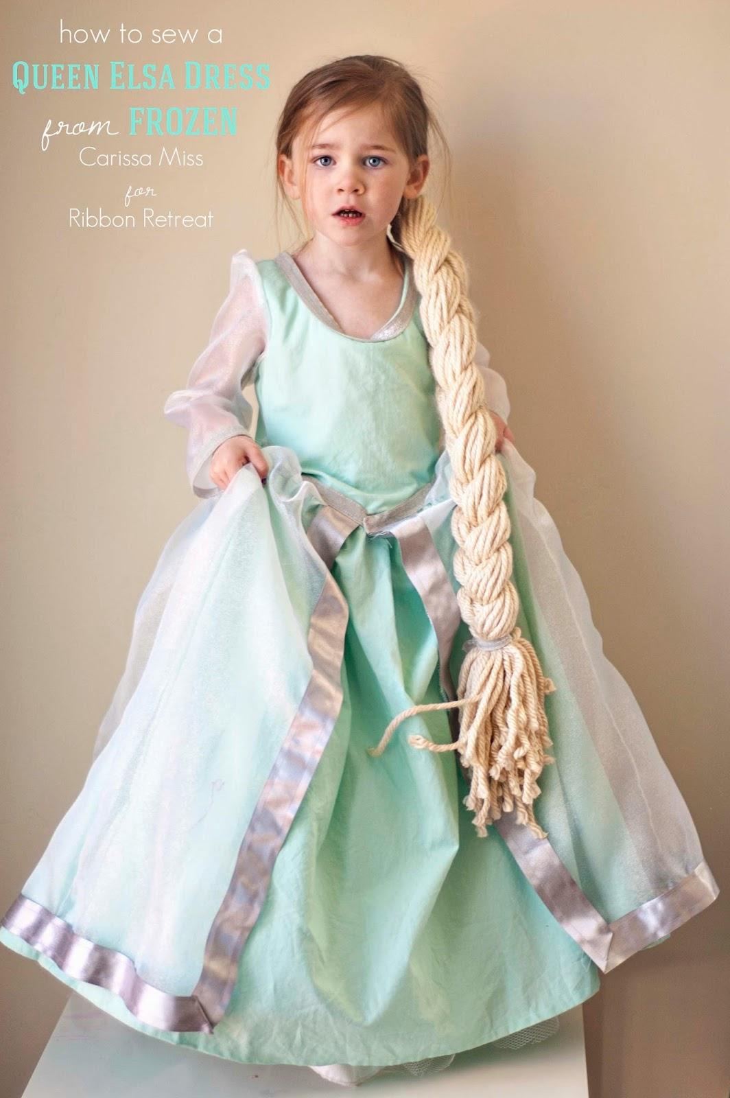 Carissa Miss: How to sew a Disney Frozen Elsa Dress