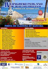 IV Congreso de Derecho Procesal 2011 - Piura