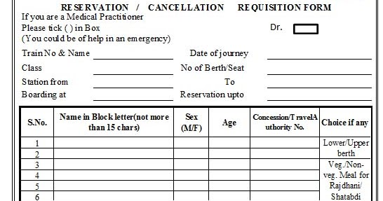 abhijeet indian railway reservation form in excel format. Black Bedroom Furniture Sets. Home Design Ideas