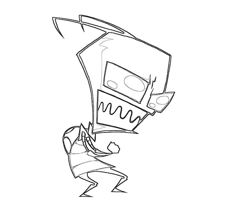 printable-invader-zim-warm-coloring-pages