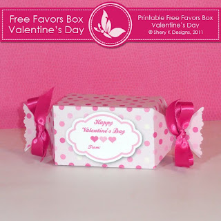 Free Printable Box Valentine's Day