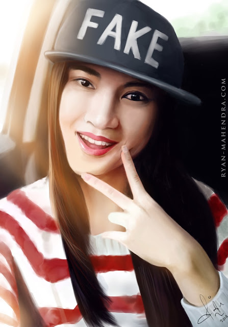 melody jkt48, melody nurramdhani laksani, digital painting, digital drawing, painting, drawing, ryan mahendra