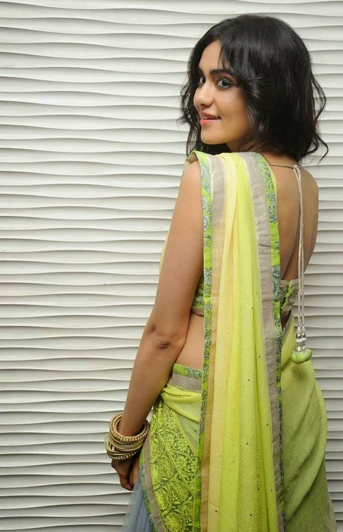Adah Sharma Back Blouse Design