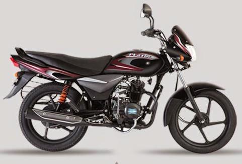Bajaj Platina 100 Black and Maroon color