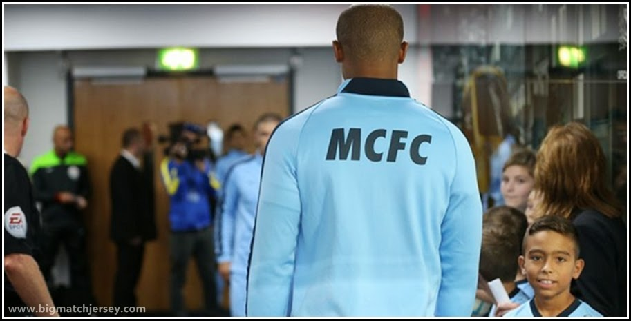 Nike Manchester City Youth Home Jaket 14 15